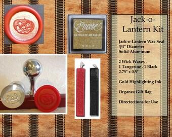 Jack-o-Lantern Wax Seal Stamp Kit
