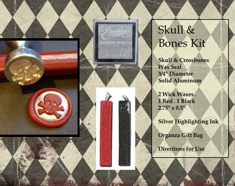 Skull & Bones Wax Seal Stamp Kit