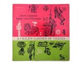 """Joseph Low record album design, 1957. """"A Child's Garden of Verses"""" LP"""