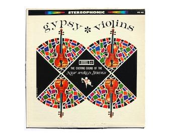 "Sam Suliman record album design, c.1960s. ""Gypsy Violins"" LP"