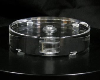 Round Lucite (Acrylic, Plexiglass) Lamp Base