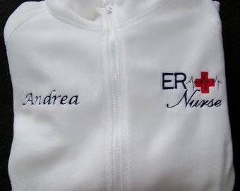 ER Nurse Fleece Embroidered Jacket