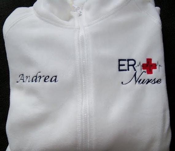 Er Nurse Fleece Embroidered Jacket