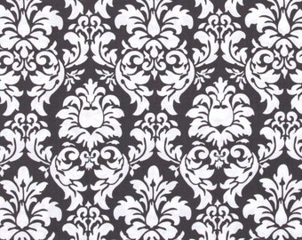 Ironing Board Cover - Michael Miller Damask in Charcoal