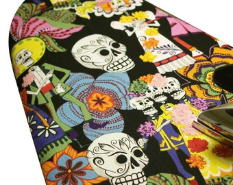 Ironing Board Cover custom special large wide standard tabletop rockabilly Alexander Henry Los Novios Day of the Dead black select the size