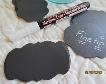 DIY Chalkboard Vinyl Sticker Kit- Chalkboard Stickers-White Fine Tip Chalk Marker-Canning Label Kit