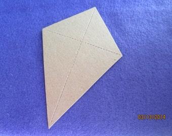 DIY Kite Crafts-Chipboard Kites-Party Decor-Unfinished Blank Kite-Spring Craft Kit-Kite Flying