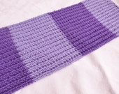 Custom order for Maria - Knit Purple Scarf
