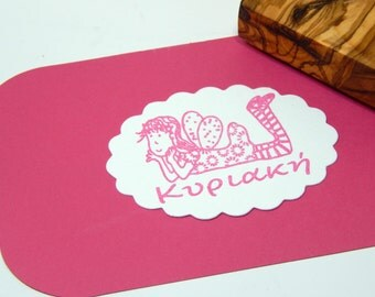 Custom Daydreaming Fairy Olive Wood Stamp