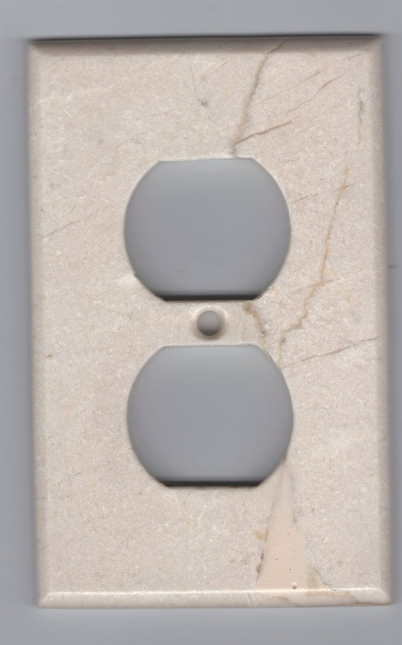 Marble Outlet Cover Switchplate Switch Plate Stone Light Wall