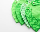 Green set of 4 Baby Bib / Toddler Infant Bib Made in Israel by CasaDeGato