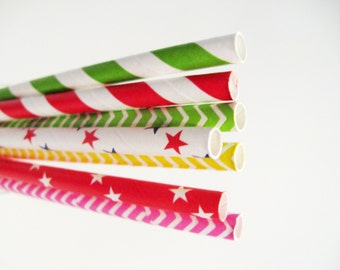 25 Paper straws in many colours available