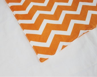 Orange Chevron Waterproof Changing Pad - small