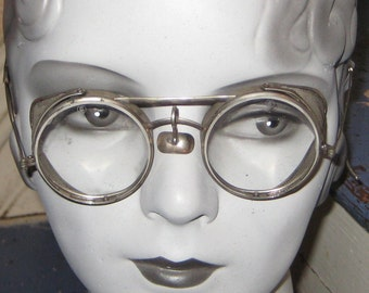 SteamPunk Glasses  I Saftery Glasses 1940s metal mesh sides