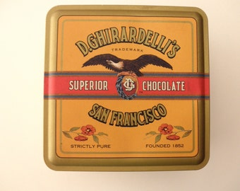 Ghirardelli's DECORATIVE TIN - Chocolate