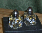 Small size Bumble Bee Salt & Pepper Shakers Hand-painted by Lisa Hayward bumblebees
