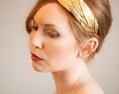 Plume d'or headband, #805b