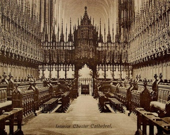 Chester Cathedral, Chester, England - Unused Vintage Postcard