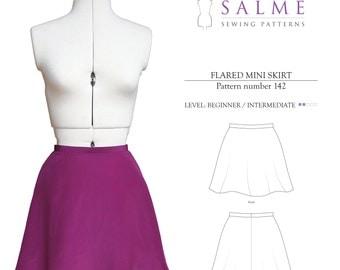 PDF Sewing pattern - Flared Mini Skirt