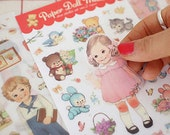 Paper Doll Mate Stickers Ver. 2 - Removal Transparent Type 6 sheets (4.3 x 7.4in)