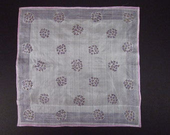 Vintage Handkerchief White-Silk (vh31)