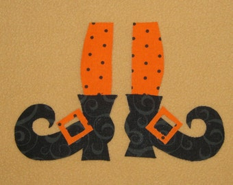 Handmade Applique Witches Leg's and Shoes for Infant or Toddler - Iron on Sew on