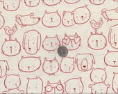 My World Of Smiles Collection I Spy Good Friends Cat Dog Fabric Alexander Henry By the Fat Quarter BTFQ