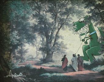 Pet Dinosaur 8.5 x 11 Print