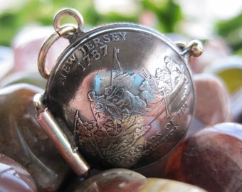 New Jersey State Quarter Locket Pendant MADE TO ORDER.