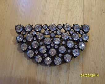 Vintage Rhinestone Brooch,, Signed Costume Brooch, Rhinestone Fashion Brooch, Bling