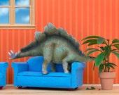 kids room art, stegosaurus dinosaur art print: Plant Eater