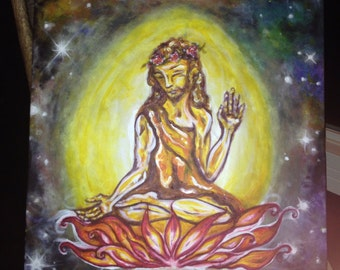 Christ Consciousness: CUSTOM original acrylic on canvas