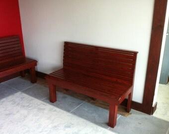 Solid Red Oak Bench Heavy Duty 6' long