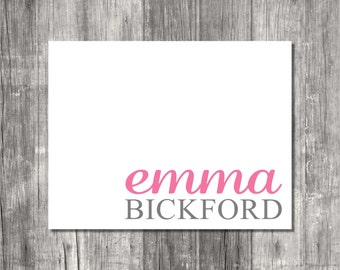 Personalized Note Cards Set - Big & Bold