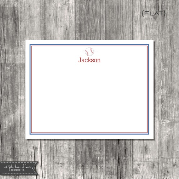 Personalized Note Cards Set - Good Sport FLAT