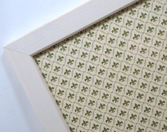 Magnetic Memo Board - Dry Erase Board - Wall Decor - Magnet Board - Framed Bulletin Board - Fleur de Lis Design - Makeup - includes magnets