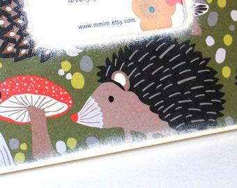 Hedgehog And Mushroom Picture Frame