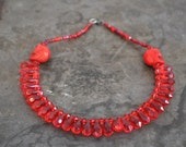 Sale Use PromoCode for Discount Blood Red Tear Drop Necklace