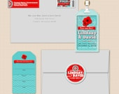 The Lindsay Save the Date Premium Hard case Luggage Tag