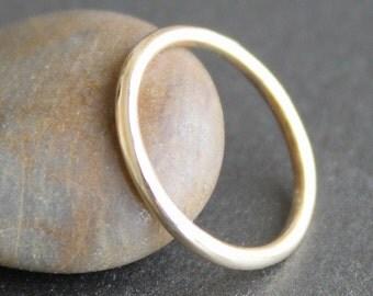 10K Solid Gold Ring - Wedding Band - 1.6mm Wide (Size 2 - 11) - 14 Gauge