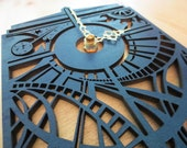 Doctor Who Inspired Timey Wimey Tardis Wall Clock