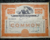 Vintage Stock Certificate 1959 United Printers and Publishers