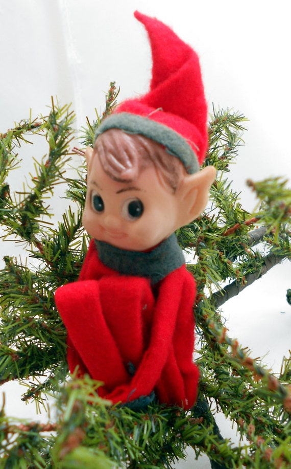 Small Vintage Pixie Knee Hugger Elf Shelf By Entirelyapropos