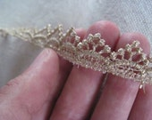 soft metallic GOLD princess points venice lace