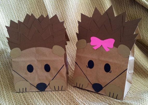Hedgehog Treat Sacks Woodland Forest Critter Porcupine