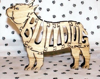 French Bulldog Standing Handmade Fretwork Jigsaw Puzzle