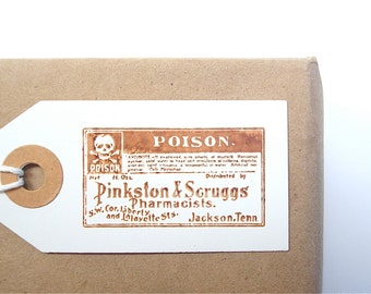 Halloween Poison Tags - Vintage Style for Halloween Decor or Party - Gift Tags - Labels