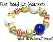 Baseball Stretchy Bracelet