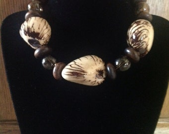 Taqua Nut Choker Necklace