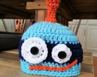 Crochet PATTERN - Robot Hat - Instant download